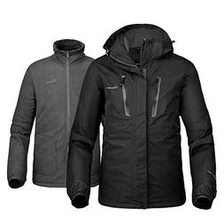 OutdoorMaster Men's 3-in-1 Ski Jacket - Winter Jacket Set wi