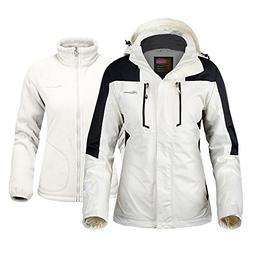 OutdoorMaster Women's 3-in-1 Ski Jacket - Winter Jacket Set
