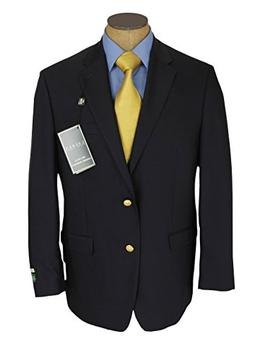 Ralph Lauren Mens 2 Button Navy Blue Wool Blazer Sport Coat