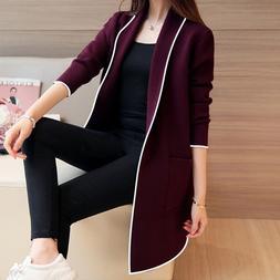 2019 Fashion Casual Women's Long Sleeve Cardigan Coat <font>