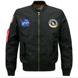 2020 Fashion US MEN NASA JACKET EMBROIDERED MILITARY ARMY FL