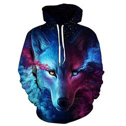 Comeon Unisex 3D Hoodies for Women Men Couples Starry Sky Wo