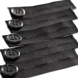 5-Premium Black Elastic Pants Extender  - Perfect for 1 Inch