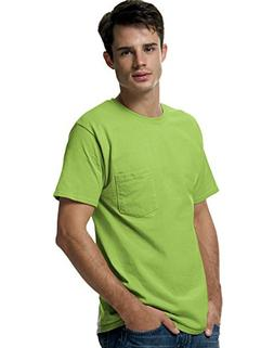 Hanes 5590 Tagless Pocket T-Shirt Size 3 Extra Large, Lime G