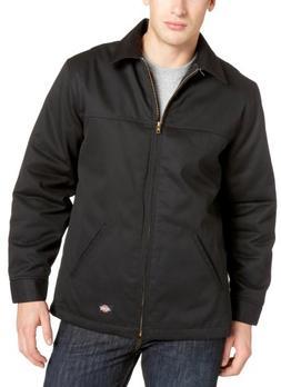 Dickies Men's Hip Length Twill Jacket, Black, X-Large