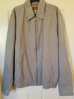 $80 Foundry Big & Tall Men's Lightweight Lined Gray Zip Fron