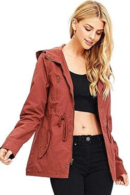 Ambiance Women's Cargo Style Hoodie Jacket  Free Shipping