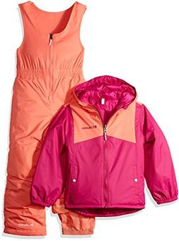 Columbia Girls' Toddler Double Flake Set, Deep Blush, Hot Co