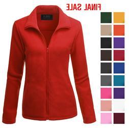 Doublju Long Sleeve Fleece Thermal Lightweight Jacket Outwea