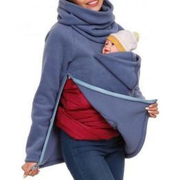 Fashion Women Maternity Kangaroo Hooded Baby Carriers Sweats