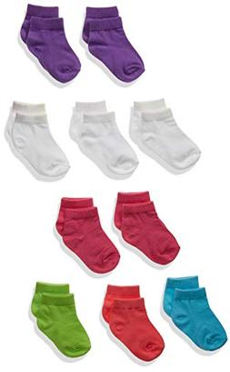 Hanes Toddler Girls' Ankle Socks 10-Pack, Assorted, 6/ 4T-5T
