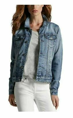 NEW Buffalo David Bitton Ladies' Stretch Knit Denim Jacket,