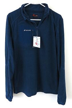 NEW NWT BALEAF Men's Fleece Jacket 1/4 Zip Pullover Navy Blu