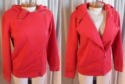 NWT NEW Lady Red Medium Cotton Hoodie M Jacket Coat Woman To