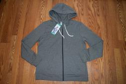NWT Womens ALTERNATIVE Vintage Coal Gray Track Hooded Jacket