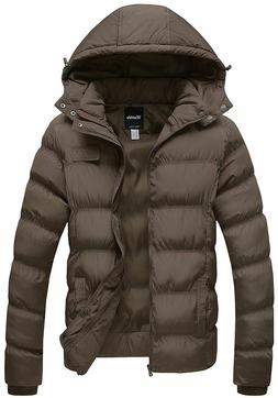 Wantdo Men's Winter Cotton Coat Puffer Jacket with Removable