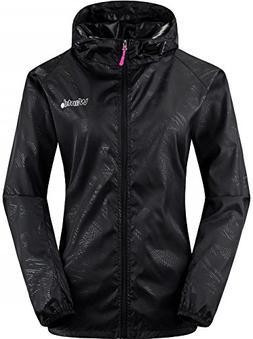 Wantdo Women's Black Skin Coat Sun Protective Running Jacket