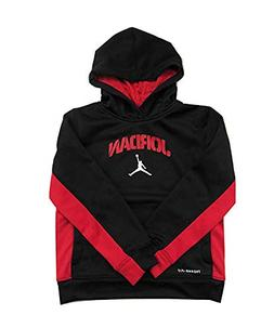 NIKE Air Jordan Therma Fit Size 7 Black/Red Hoodie