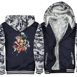Akatsuki Sharingan Fashion Hoodies Mens Jackets Winter Warm