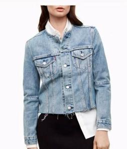 Levis Altered Distressed Women's Denim Jacket Size XS New