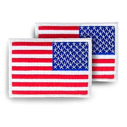 Skyhawk American Flag USA US Embroidered Iron On Sew On Patc