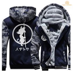 Anime DRAGON BALL Z Fashion Hoodies Mens Jackets Winter Warm
