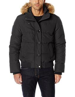 Tommy Hilfiger Men's Arctic Cloth Quilted Snorkel Bomber wit