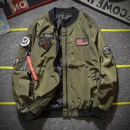 Army Green Pilot <font><b>Jacket</b></font> <font><b>Men</b>