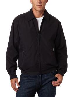 London Fog Men's Auburn Zip-Front Golf Jacket , Black, Large