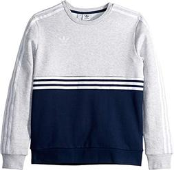 adidas Originals Kids Boy's Authentic Crew  Collegiate Navy/