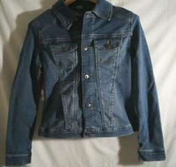Wrangler Authentics Women's Stretch Denim Jacket Weathered S