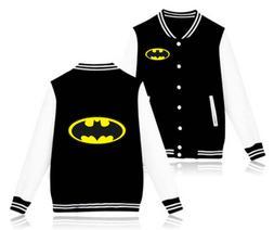 batman baseball jackets funny fleece sweatshirts men/boy coa