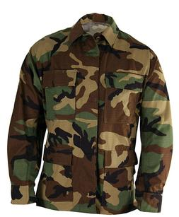 BDU Jacket - WOODLAND CAMOUFLAGE - 4 Pocket - IRREGULAR - Va
