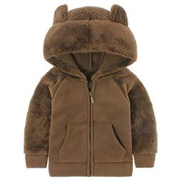 Goodkids Bear Ears Shape Fleece Warm Hoodies Clothes Toddler