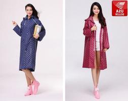 Beautiful Polka Dot EVA Women's Waterproof Raincoat Jacket