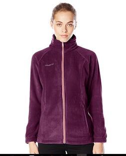 COLUMBIA Benton Springs Zip Fleece Jacket Women L Purple Dah