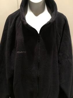BIG AND TALL 3XL Columbia Black Soft Fleece Jacket Unisex NE