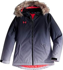 Under Armour Girls' Big ColdGear Snorkle Jacket, Black Laila