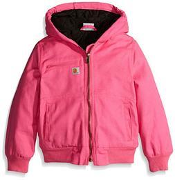 Carhartt Big Girls' Wildwood Jacket Quilt Lined, Raspberry R