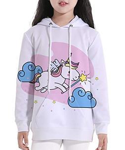 GLUDEAR Big Girls' Youth Unicorn Teen Jackets All Over Print