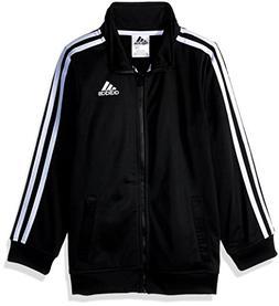 adidas Boys' Big Iconic Tricot Jacket, Black Adi, Medium
