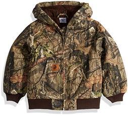 Carhartt Boys' Big Mossy Oak Camo Active Jacket, Browntree P