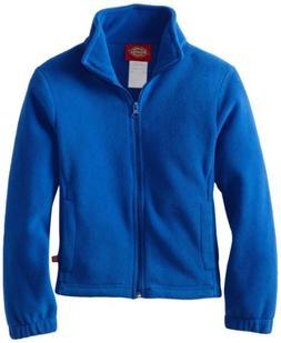 Dickies Big Girls' Polar Fleece Zip Jacket, Royal Blue, X-La