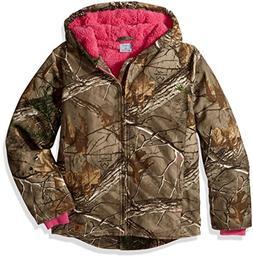 Carhartt Girls' Big Redwood Jacket Sherpa Lined, Dark Brown