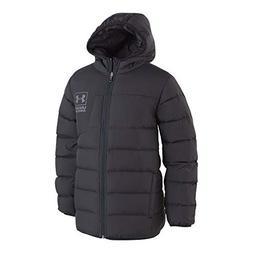 Under Armour Boys' Big Swarmdown Hooded Jacket, Black, Small