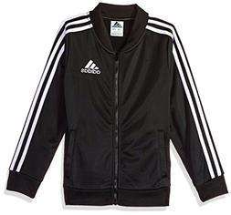 Adidas Girls' Big Track Jacket, Black, L