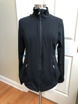 Old Navy Black Active Jacket Fitted Sz L 12 14 NWT GoDry Str