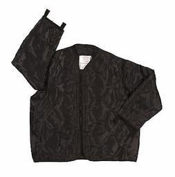 BLACK M-65 FIELD JACKET LINER BLACK QUILTED NYLON MADE BY RO
