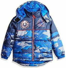 Marvel Boy's Captain America Camo Puffer Coat Jacket 100% Po