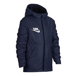 NIKE Boy's NSW Fleece Lined Hooded Jacket Navy 856195-429